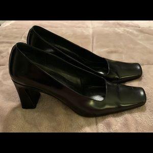 Via Spiga Black Block Heels Sz 8M